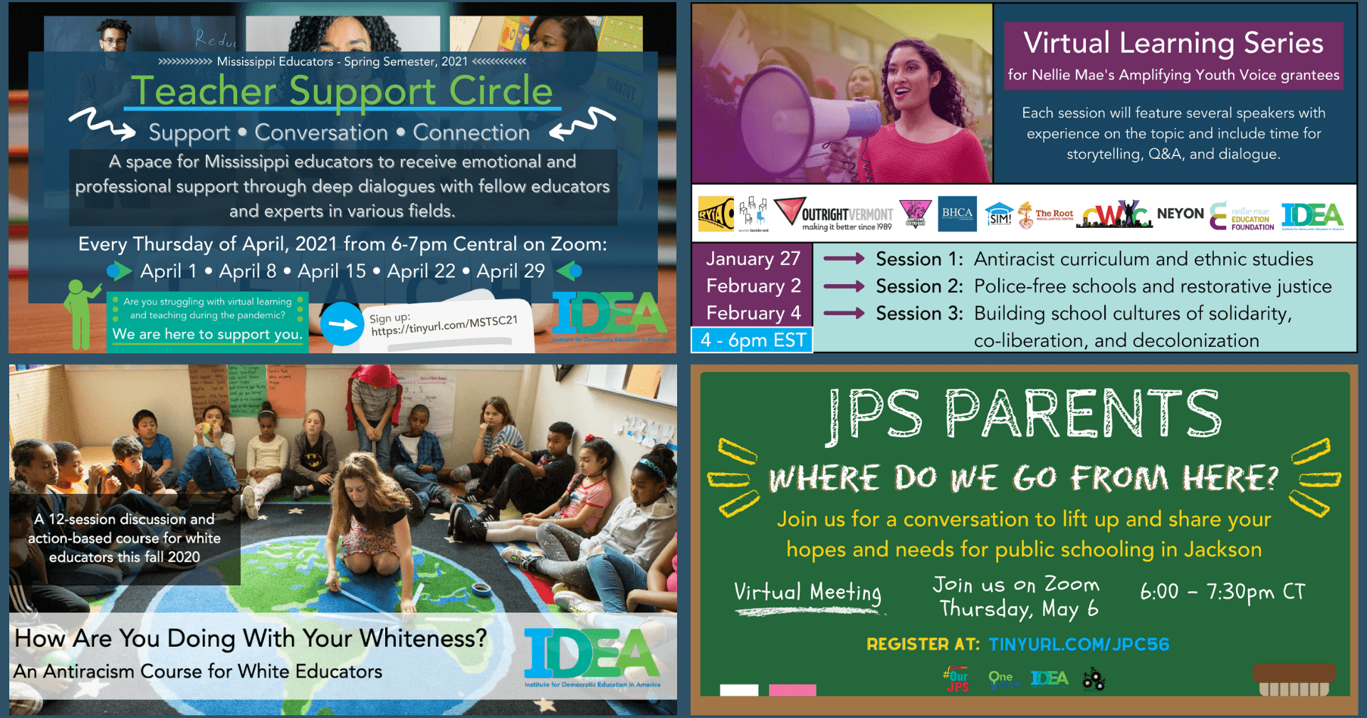 Looking Ahead + New IDEA Website, Staff & Updates - Democratic Education - Justice and Equity in Education